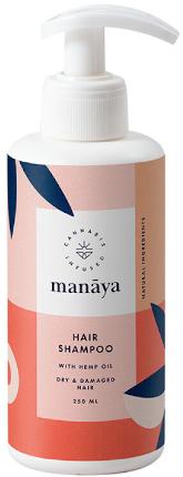 Manaya, szampon do włosów z olejem konopnym, 250 ml
