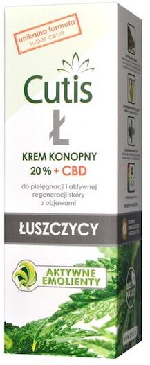 Cutis Ł, krem konopny 20% + CBD, 120 ml